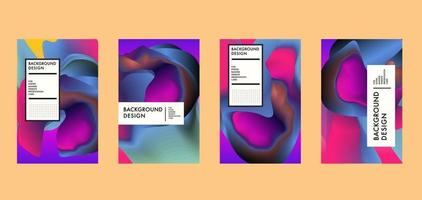 Vector colorful abstract liquid and wavy background banner