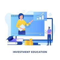 Investment education illustration concept vector