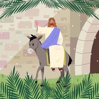 Palm Sunday Cartoon Concept vector
