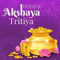 Happy Akshaya Tritiya Concept vector