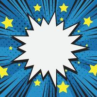 Comic Halftone Background with Stars Around It vector