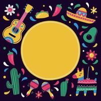 Colorful Cinco De Mayo Background vector