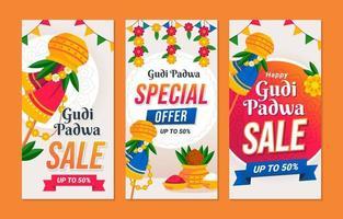 banner de venta de gudi padwa vector