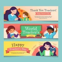 Thank You Teachers Banner vector