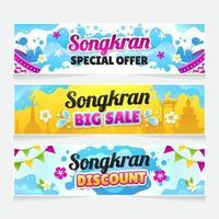 Songkran Festival Sale Banner vector