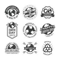 Earth Day Awareness Vintage Stickers vector