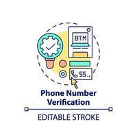 icono de concepto de verificación de número de teléfono vector