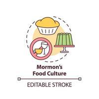 icono del concepto de cultura alimentaria mormona
