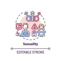Sexuality concept icon vector