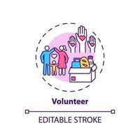 icono de concepto de voluntariado vector