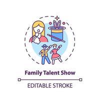 icono de concepto de espectáculo de talento familiar vector
