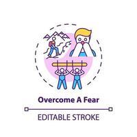 superar un icono del concepto de miedo vector