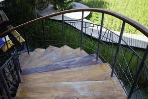 Exterior spiral staircase photo