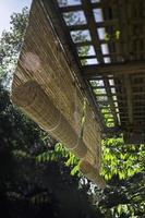 Bamboo sun shade for outside photo