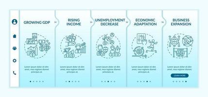 Decreasing of employment onboarding vector template