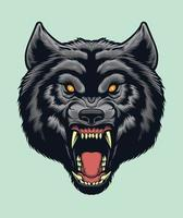 Angry wolf Head vector for design elements for logo, poster, illustration