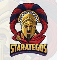 Ancient Spartan Warrior vector
