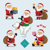 Cute Santa collection vector