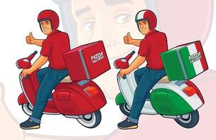 Pizza Delivery Rider vector