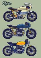 Cafe Racer Bike Set vector
