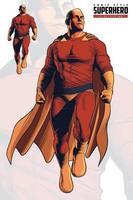 superhéroe de estilo cómico volando vector