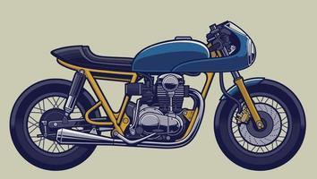vector de bicicleta cafe racer para elementos de diseño de logotipo