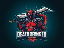 Warrior Illustration for Esport Logo vector