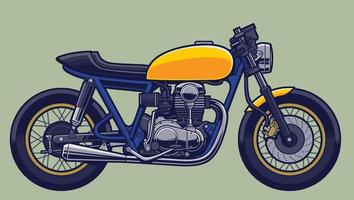 motos cafe racer desnudas estilo bobber vector