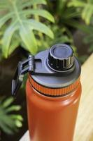 Thermos bottle for hot and cold drinks photo