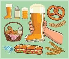 BOOT Beer glass cheers vector