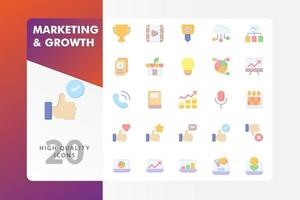 Marketing and Growth icon pack isolated on white background vector
