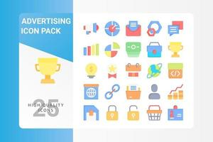 Advertising icon pack for your web site design, logo, app, UI vector