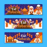 Eid Mubarak with Big Family vector