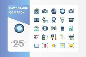 Photography icon pack for your web site design, logo, app, UI vector