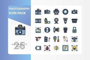 paquete de iconos de fotografía para el diseño de su sitio web, logotipo, aplicación, ui vector