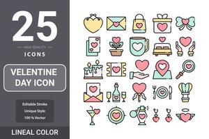 paquete de iconos del día de san valentín para el diseño de su sitio web, logotipo, aplicación, ui vector