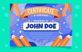 Certificate of Achievement Drawing vector