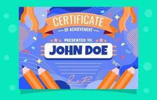 certificado de logro dibujo vector