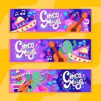 Colorful of Cinco de Mayo vector