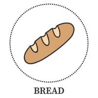 Realistic loaf of bread on a white background - Vector