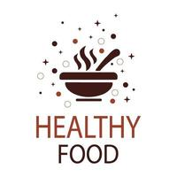 Abstract logo of healthy food on a white background - Vector