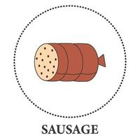 Realistic sausages bundle on white background - Vector
