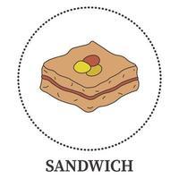 sándwich grande abstracto sobre fondo blanco - vector