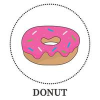 Abstract realistic donut on white background - Vector