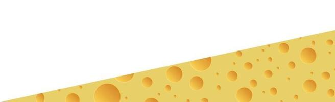 Yellow cheese with holes panoramic background - Vector