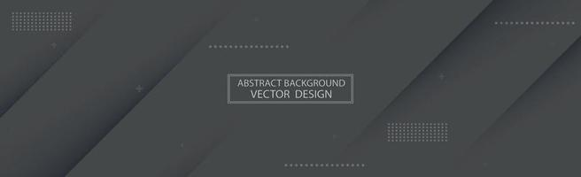 Panoramic abstract background with various shades of gray - Vector