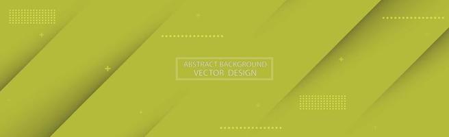 Fondo abstracto panorámico con varios tonos de verde - vector