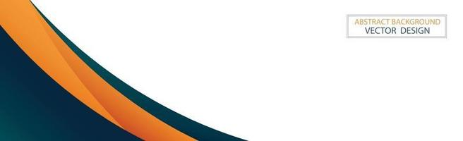 Abstract web template black and orange lines on white background - Vector