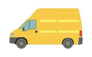 Large yellow van on a white background - Vector