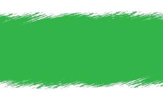 Smear of green paint on a white panoramic background - Vector